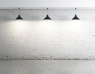 brick concrete room
