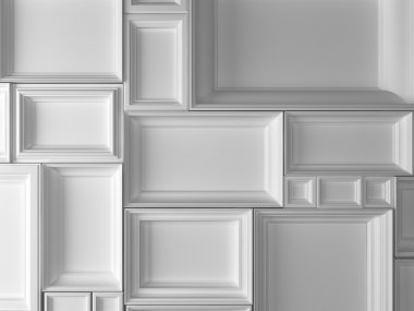 3d white frames