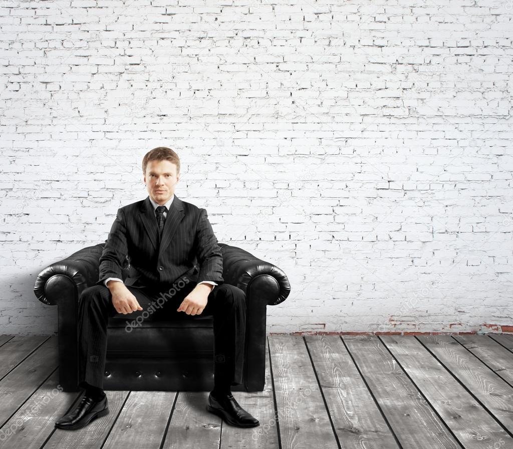 Leather Couch Repair Utah: Sofa Man Relaxing On Sofa Man Maging Womans Foot Smiling