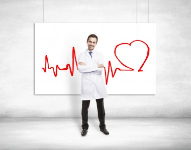 doctor and cardiogram