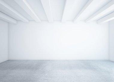 Empty loft room
