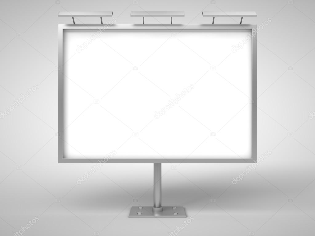 white billboard