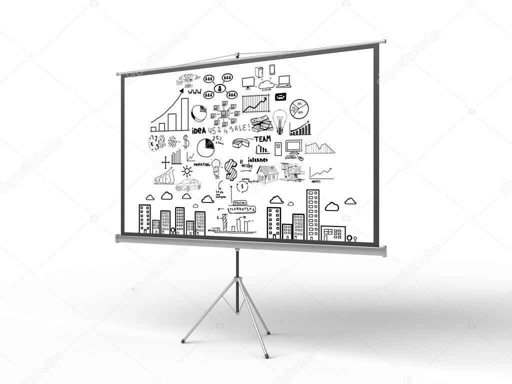 screen with business concept