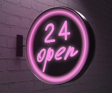 24 open sign