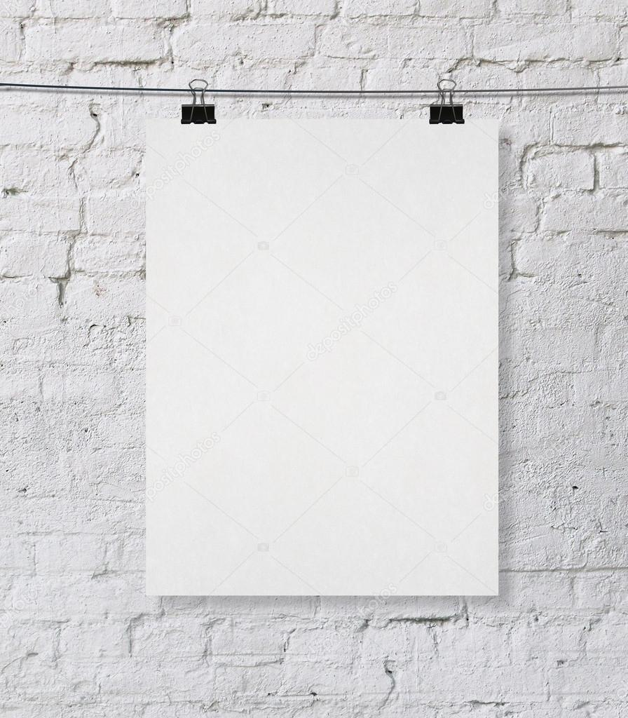blank poster stock photo peshkova 22055483