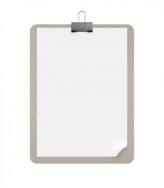 Clipboard on a white background stock vector