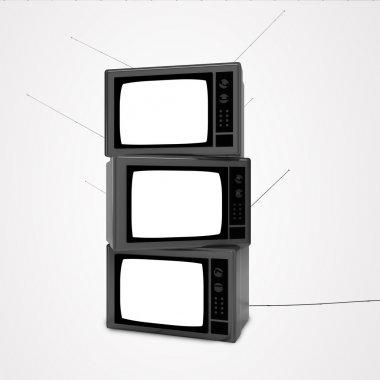 three television