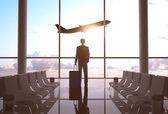 Fotografie podnikatel na letišti