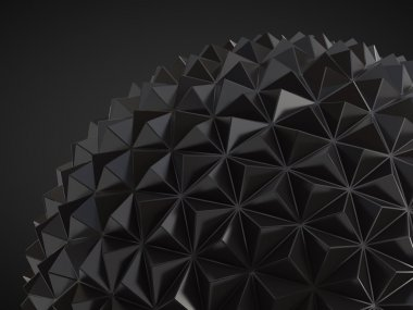 low poly geosphere