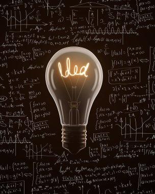 Light bulb with idea text