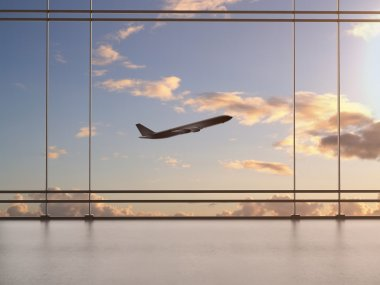 airport with window