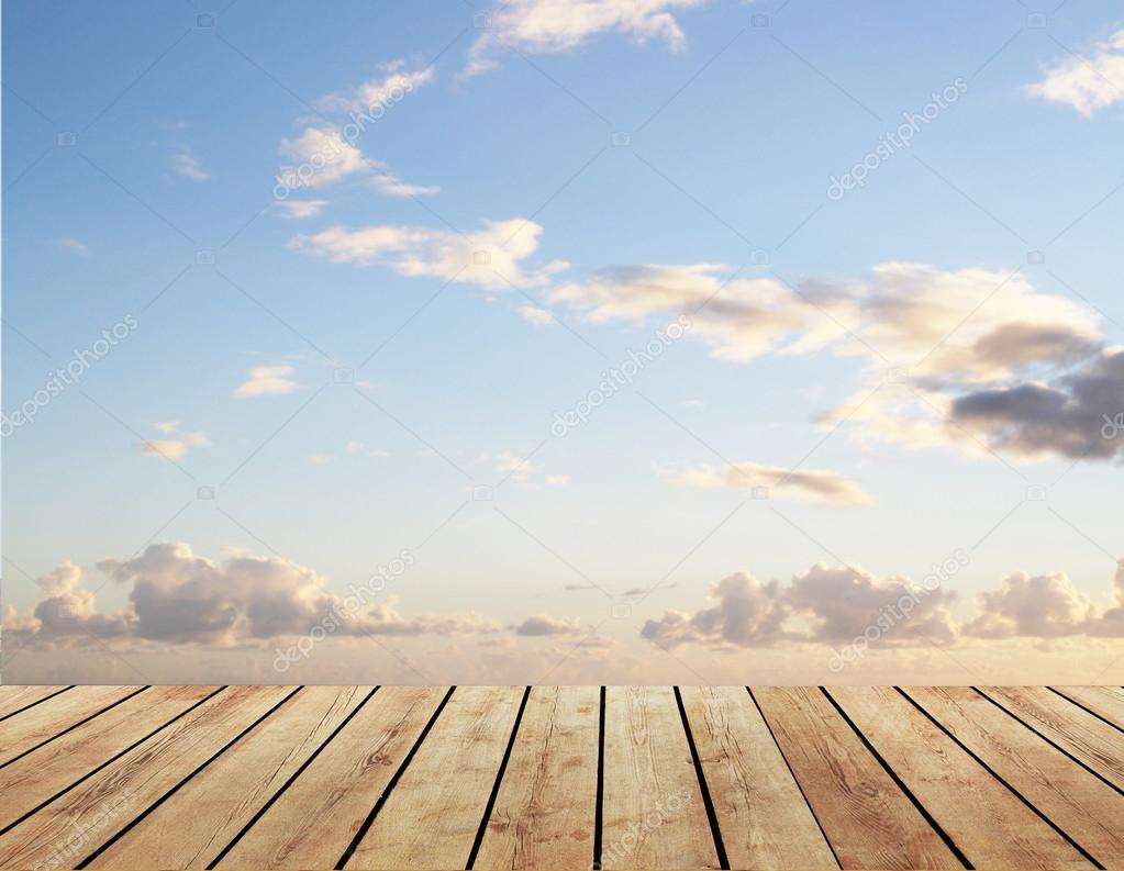 floor and blue sky