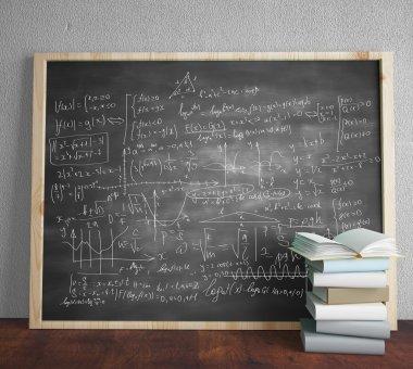 blackboard with drawing formulas