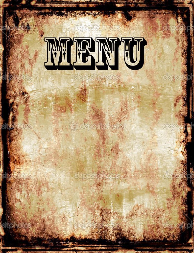 blank menu design - HD1086×1300