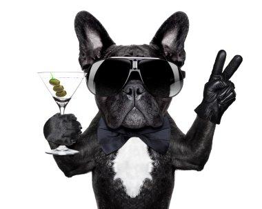 peace cocktail dog