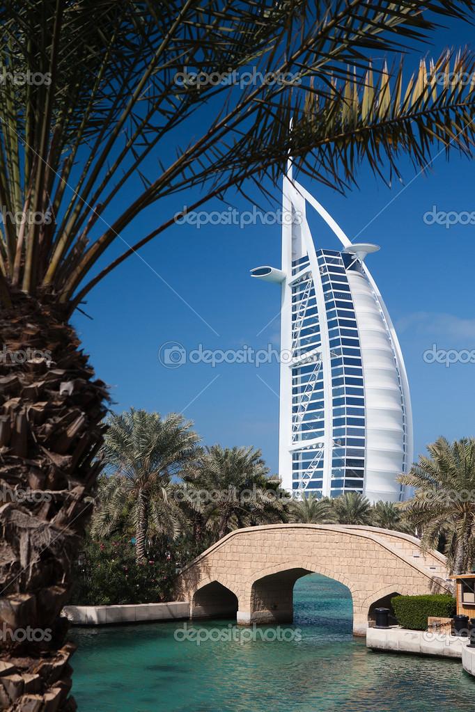 Burj Al Arab Ist Ein Luxus 7 Sterne Hotel Redaktionelles Stockfoto
