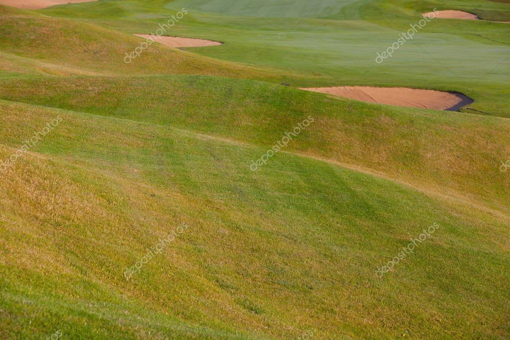 Summer on the empty golf course