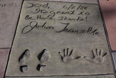 John Travolta's autograph