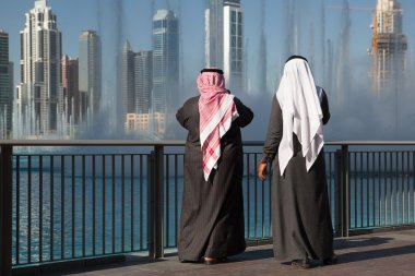 Two sheiks at the Dancing fountains