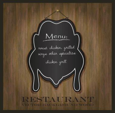 Vector blackboard chicken restaurant menu card
