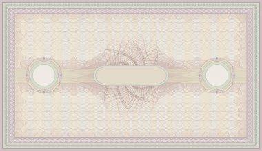 raster voucher pink green guilloche certificate