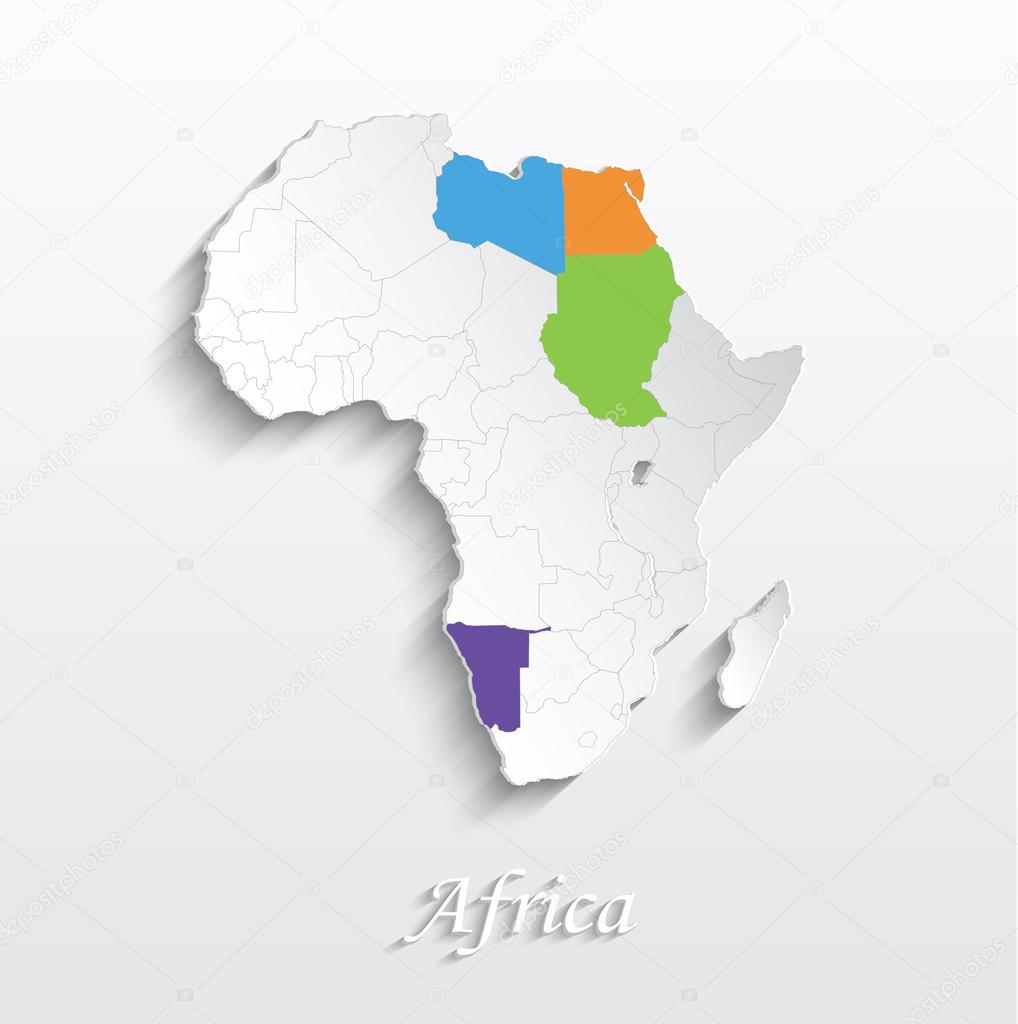 Picture of: ᐈ African Map Stock Images Royalty Free Maps Of Africa Icon Download On Depositphotos