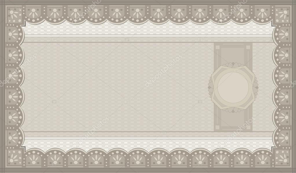 Raster Voucher Coupon Paper Blank Template — Stock Photo © Mondi.H
