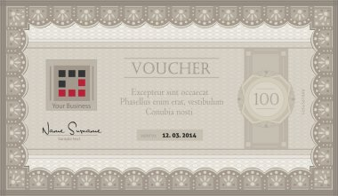 Vector Voucher coupon paper template