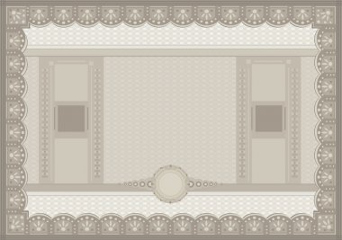 Raster Certificate voucher coupon paper A4 template blank