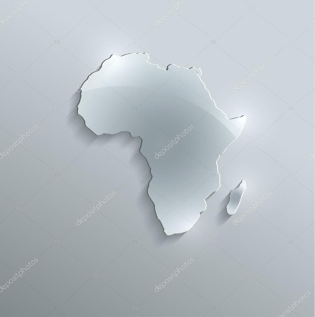 Africa map glass card paper 3d raster stock photo mondih 34484449 africa map glass card paper 3d raster blank photo by mondih gumiabroncs Gallery