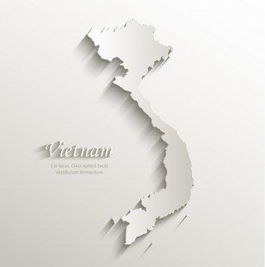 Vietnam map card paper 3D natural vector