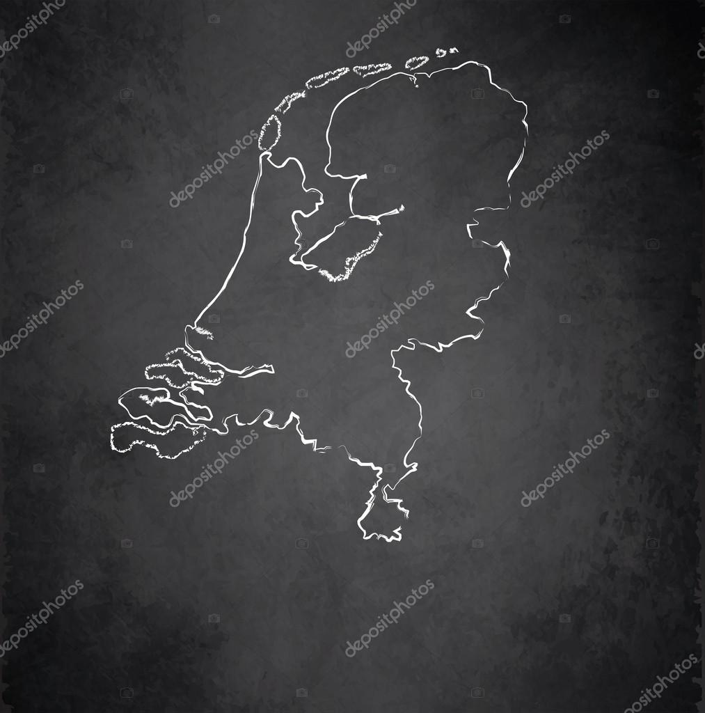 netherlands holland map blackboard chalkboard raster u2014 stock photo