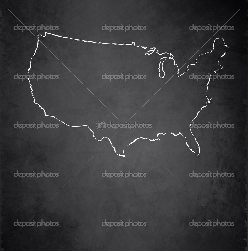 Usa Map Blackboard Chalkboard Raster Stock Photo C Mondi H 45939379