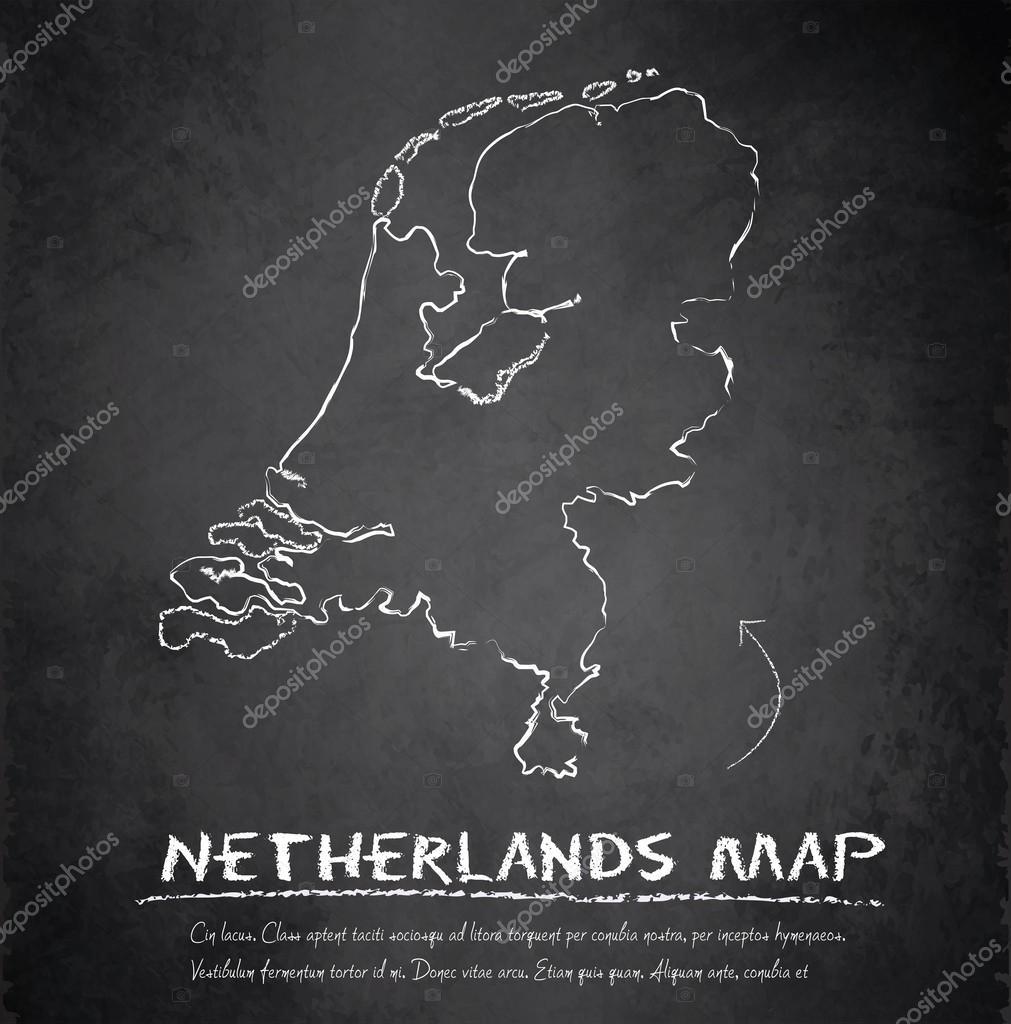 netherlands holland map blackboard chalkboard vector u2014 stock