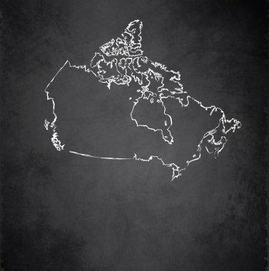 Canada map blackboard chalkboard raster