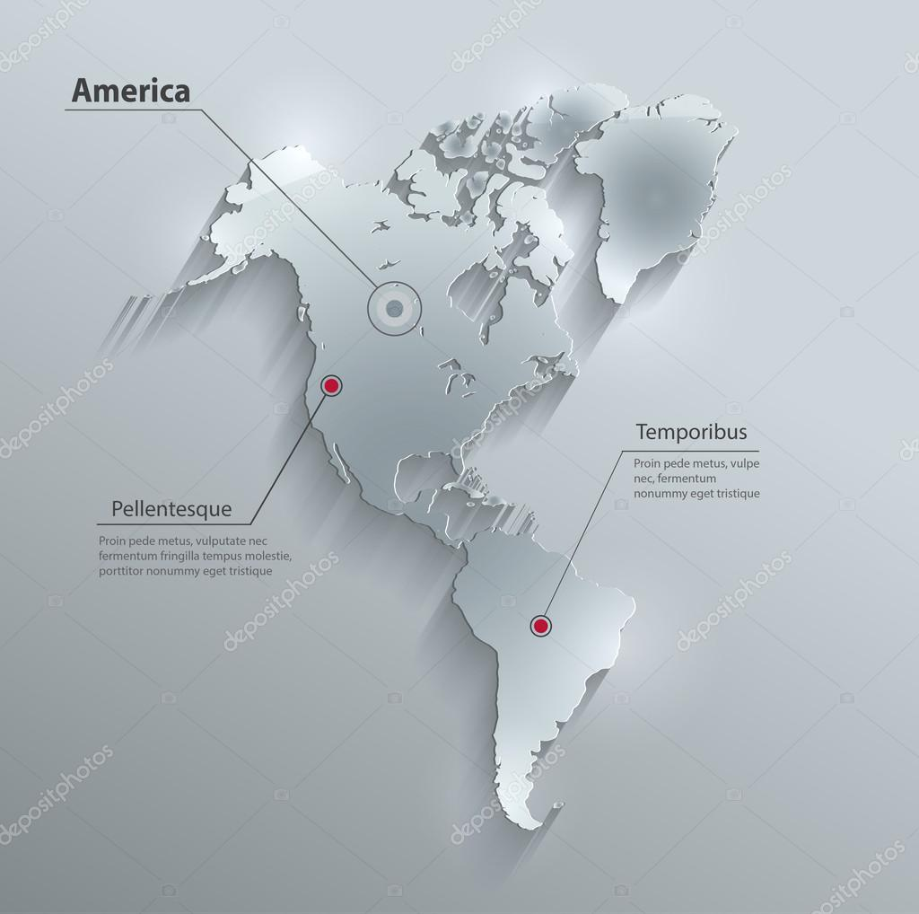 america map continent
