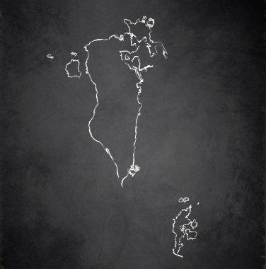 Bahrain map blackboard chalkboard raster