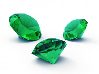 Beautiful emerald gems
