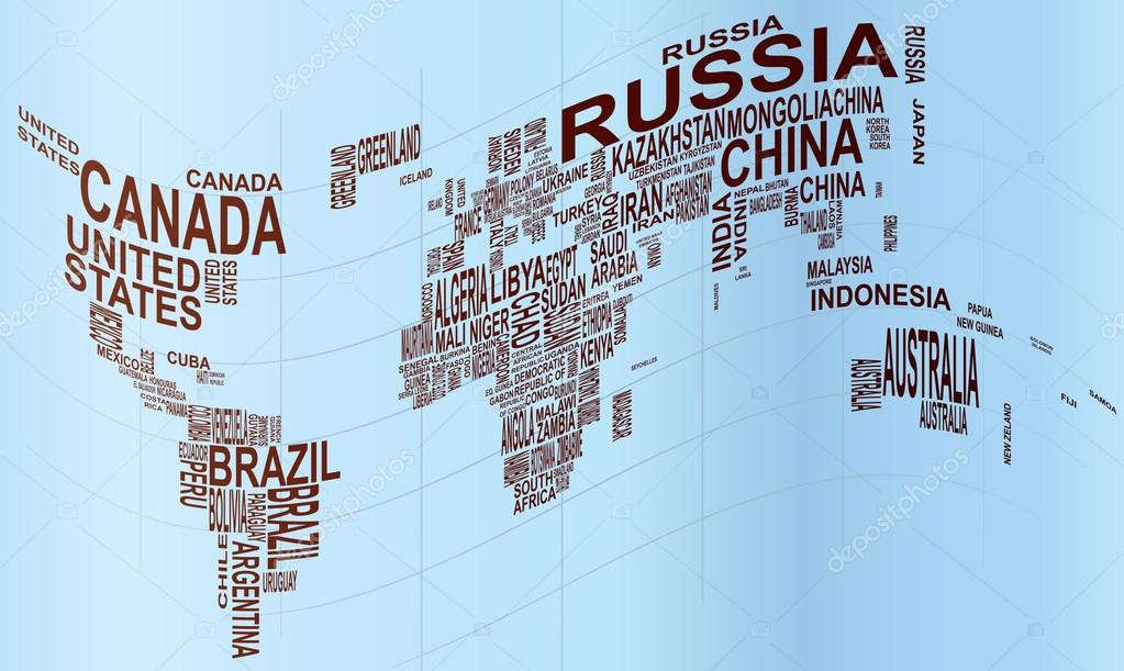 world map with country name — Stock Photo © Willypd #16920859