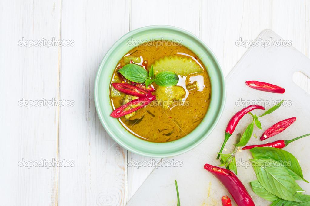 Zielone Curry Kuchnia Tajska Zdjecie Stockowe C Wyoosumran 48582771