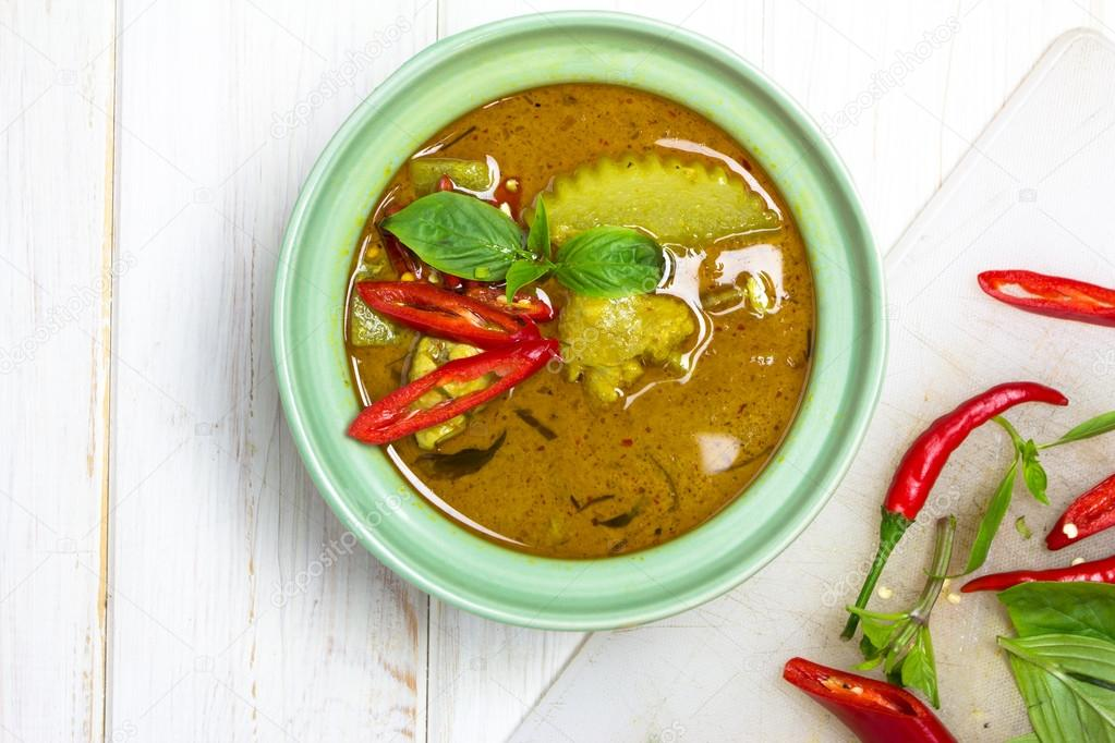 Zielone Curry Kuchnia Tajska Zdjecie Stockowe C Wyoosumran 48582895