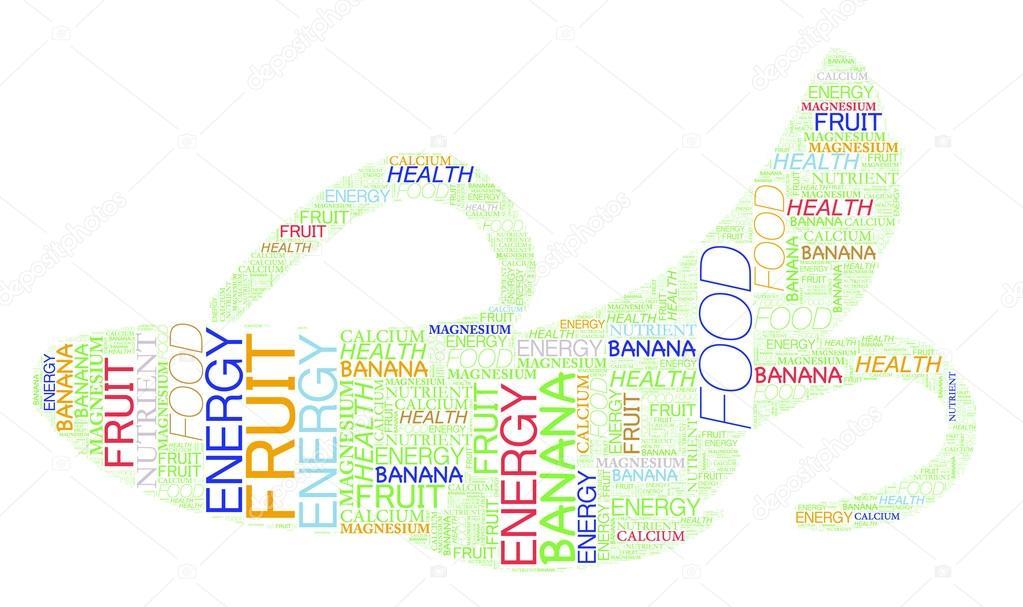 Banana Info Text Graphic Multi Colour And Arrangement Concept On