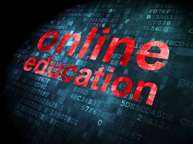 Education concept: online education on digital background