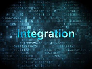 Business concept: integration on digital background
