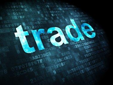 "Картина, постер, плакат, фотообои ""Бизнес-концепция: торговля на фоне цифровой"", артикул 17737735"