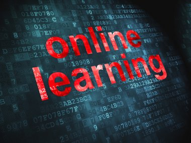Education concept: Online Learning on digital background
