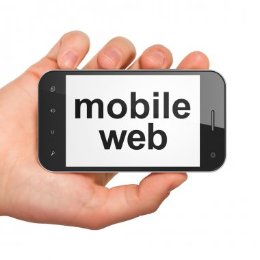 SEO web development concept: smartphone with Mobile Web