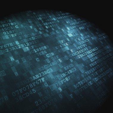 Teknoloji kavramı: hex kodu dijital arka plan