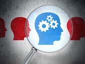 Vzdělávací koncepce: Head Whis zařízení s optickým sklem