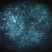 Technologiekonzept: hex-code digitaler hintergrund